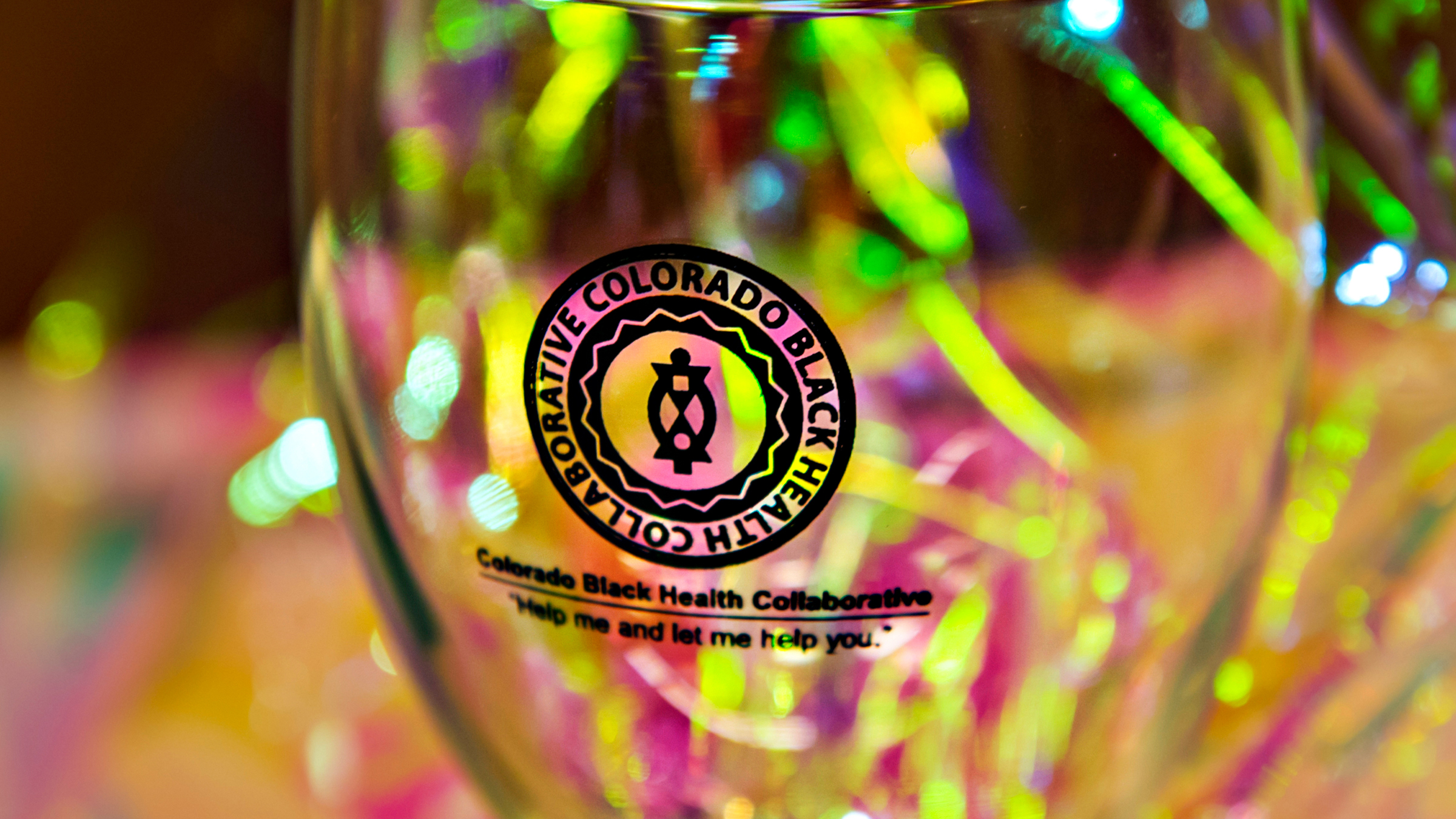CBHC Logo on a Glass